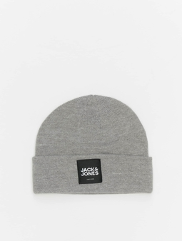 Jack & Jones jacOtto Beanie Grey Melange/Black Label