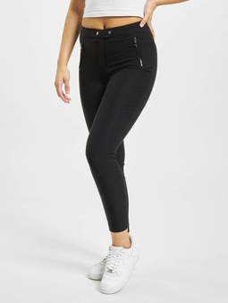 Only onlJamila High Waist Zip Ankle Leggings Black