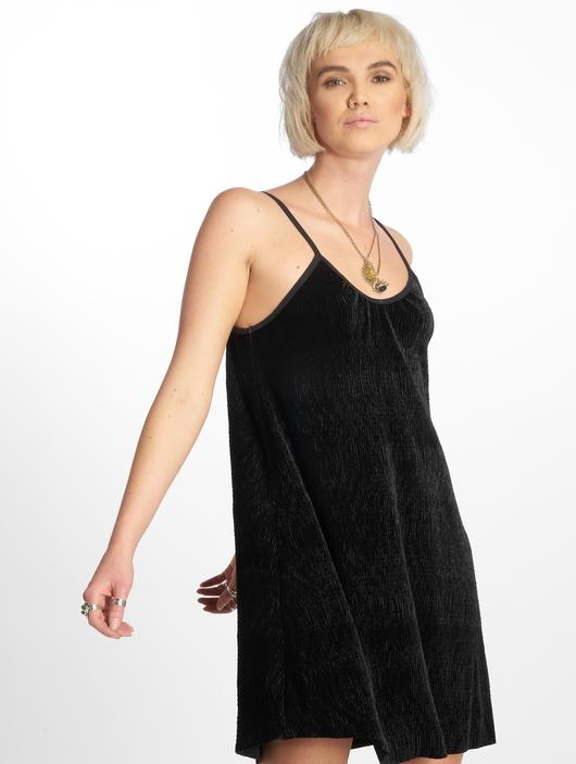 Urban Classics Velvet Slip Dress Beige image number 2