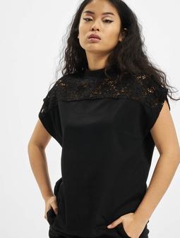 Urban Classics Lace Yoke T-Shirt