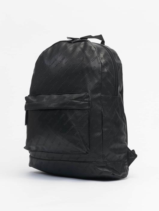 Urban Classics Imitation Leather Backpack Black image number 1