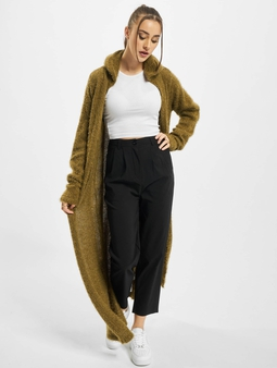 Urban Classics Ladies Hooded Feather Cardigans oliven