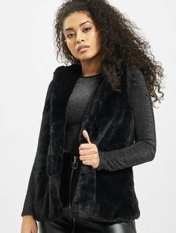 Urban Classics Ladies Hooded Faux Fur Vest