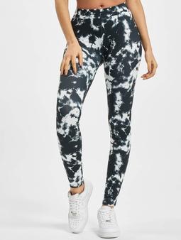Urban Classics Tie Dye Leggings Black/White