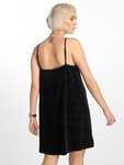 Urban Classics Velvet Slip Dress Beige image number 1