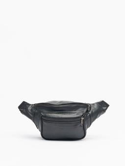 Urban Classics Imitation Leather Double Zip Shoulder Bag