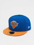 New Era NBA Basic NY Knicks 59Fifty Cap Blue/Orange (7 - 55, image number 0