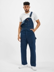 Dickies Bib Overall Pants Washed Indigo (W 42  L 32 blue) image number 0