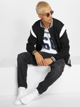 Urban Classics Inset College Jacket Black/White image number 3
