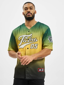 Fubu Varsity Baseball T-Shirt Green/Yellow/White