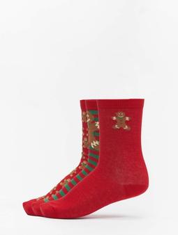 Urban Classics Christmas Gingerbread Lurex 3-Pack Socks