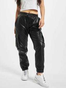 Urban Classics Faux Leather Cargo Pants