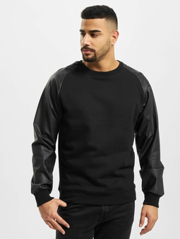 Urban Classics Raglan Leather Imitation Sweatshirt