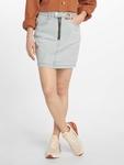 Missguided Double Popper Zip Denim Skirt Light Blue image number 0