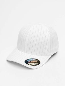 Flexfit Pinstripe Flexfitted Cap White/Navy