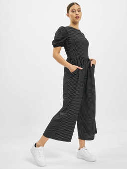 Missguided Polka Lace Up Puff Culotte Jumpsuit