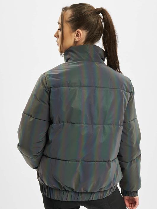 Urban Classics Ladies Iridescent Reflectiv Puffer Jacket Rainbow Darksilver image number 1