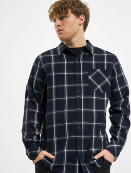 Urban Classics Basic Check Shirt Navy/White