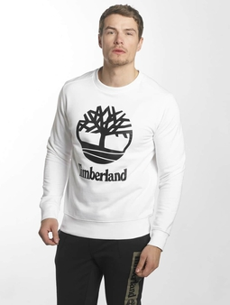 Timberland Crew Sweat With Stacked Logo White