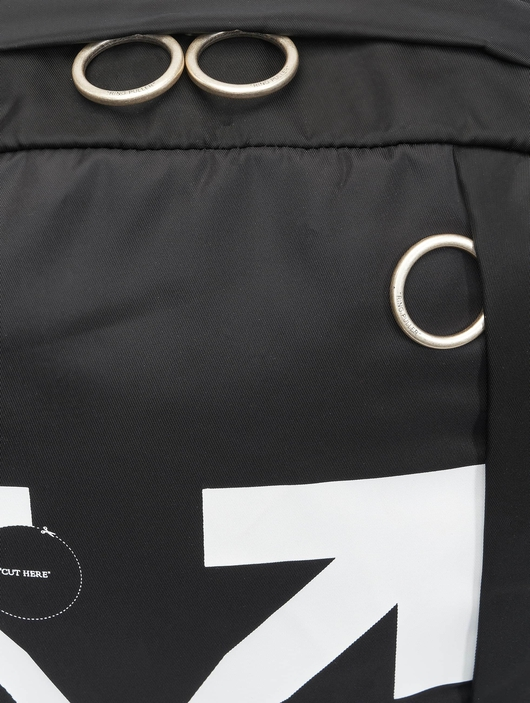 Off White Backpack Black Whit image number 5
