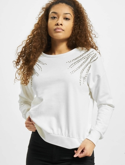 Only onlLuxi Life Leaf Sweatshirt Cloud Dancer