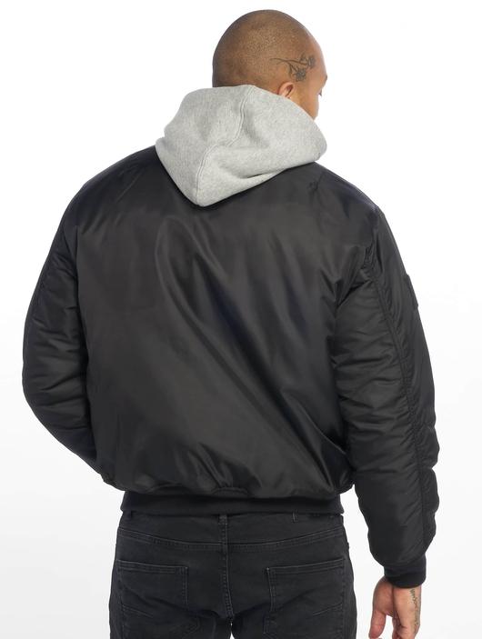 Brandit MA1 Sweat Zip Hoody Black/Grey image number 1