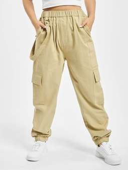 Missguided D Ring Strap Chino bukser beige