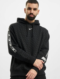 Nike M Nsw Repeat Flc Po Prnt Hoody Black/White