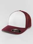 Flexfit Mesh Colored Front Snapback Cap Maroon/White image number 0