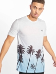 Criminal Damage Palm Tree T-Shirt Blue Multi