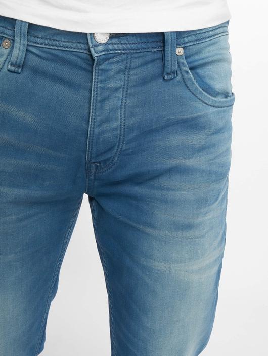 Jack & Jones jjiTim jjLeon Slim Fit Jeans Blue Denim image number 3