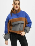 Urban Classics Ladies Sherpa 3-Tone Pull Over Lightweight Jackets image number 0