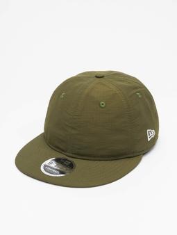 New Era Green Ripstop Retro Crown Snapback Caps oliven