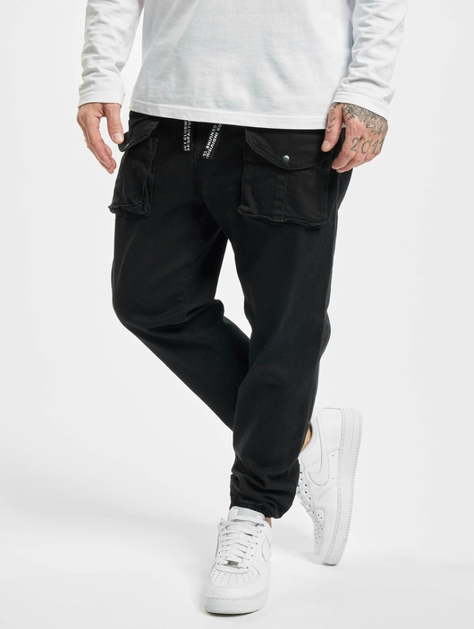 Vsct Clubwear Norman Baggy Cargo Pants Black image number 0
