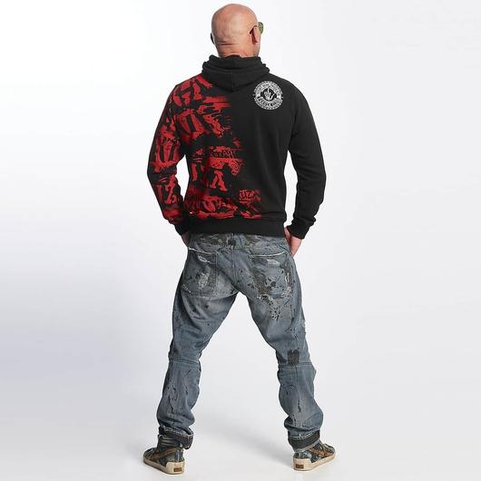 Yakuza Club Hoody Black/Red image number 3
